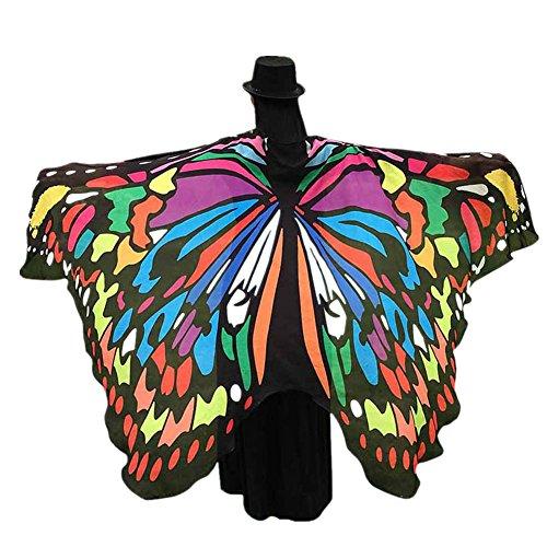 Damen Schmetterling Flügel Umschlagtücher Frauen Schal Nymphe Pixie Poncho Kostüm Zubehör (M) (Liebhaber Paket Kostüme)