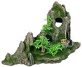 Trixie 8854 Felsformation mit Höhle/Pflanzen, 27 cm