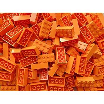LEGO Bricks: Orange 2x4. Part 3001 (X 25): Amazon.co.uk ...