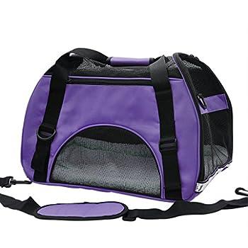 Pet Cuisine Sac à main de transport avec intérieur doux et respirable pour chien et chat Violet M