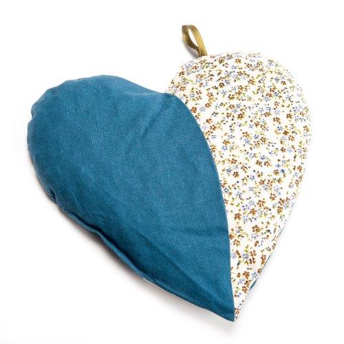 Grünspecht 103-V2 Kirschkern-Kissen Herzenswärme, blau