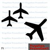 Piktogramm Typ 71 Icon Symbol Zeichen 3er Set Flieger Flugzeuge Jet Kampfjet Aufkleber ca.15cm von Pegatina Promotion® Aufkleber mit Verklebehilfe von Pegatina Promotion® ohne Hintergrund geplottet