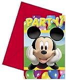 Mickey Mouse Party Time Einladungskarten