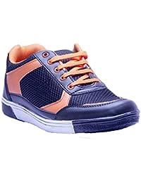 Savie Shoes Men's Black & Orange Casual Sport Shoes