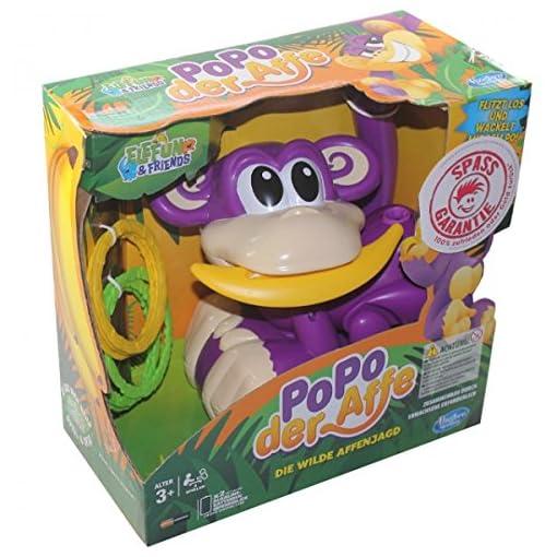 Hasbro-A2043-PoPo-der-Affe-die-wilde-Affenjagd-Spiel-Kinder-Ringe-werfen-Aktionsspiel