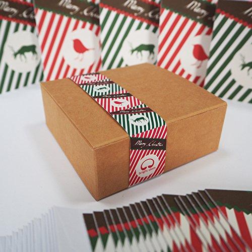 BRIGHT Stem 24Christmas Cards Boxset klein Vintage Stil Designs -