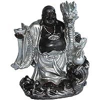 Buddha Figur Buddafigur Feng Shui Buddhismus Stehend Budda Mit Drachen Sehr Dekorativ