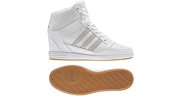 adidas Super Wedge W, Sneaker Basses Femme, Blanc Cassé