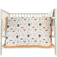 "Baby Muslin Swaddle Blanket Newborn Baby Wrap Blanket 4 Layer Bamboo Summer Blanket for Toddler Soft and Breathable Baby Stroller Blanket Baby Showe Gift 43""*47"" (Orange)"