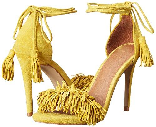 Aberto Borla Amarelo Tamanho Apontou Grande Estiletes Sapatos De Ubeauty Senhoras Saltos No Tornozelo Tira Dedo Altos Sandálias RUAPIqWqa