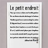 stickers muraux fille fee Porte De Toilette Le Petit Endroit Pour Toilette Wc Sticker Mural