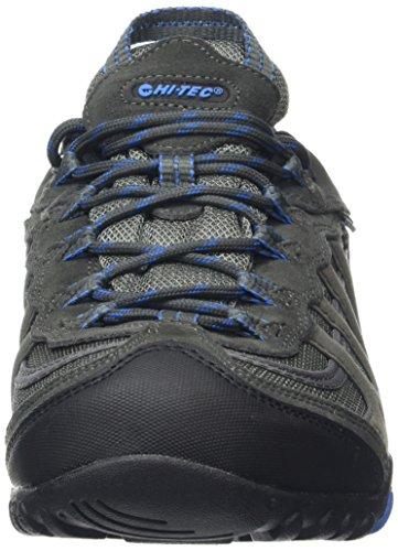 Hi-Tec Penrith Low Waterproof, Chaussures de Randonnée Basses Homme Gris (Charcoal/blue 052)