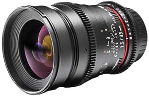 Walimex Pro - Obiettivo fotovideo da 35mm f15 filettatura filtro 77mm per Canon EOS M