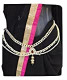 #7: XLDreams Beautiful Designer Single Piece American Diamond waist chain ,kamarband, belly chain for women for festival/wedding/parties with Surprise free gift