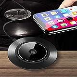 ZYX Qi Fast Wireless Charger Pad für iPhone X 8 Plus Wireless Ladestation für Samsung S9 S9 + S8 Note8 S7,Black