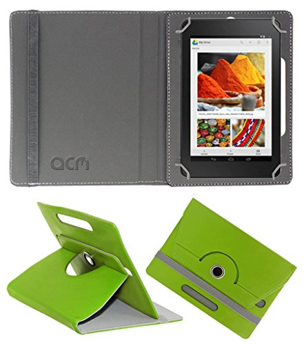 Acm Rotating 360° Leather Flip Case for Dell Venue Cellular 7 Cover Stand Green  available at amazon for Rs.149