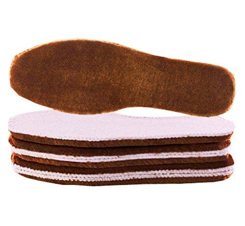 3 Paires Semelles Femmes Laine épaisse Premium laine Fluffy Inserts Cozy & Fluffy, A9
