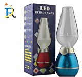 #8: RAY LED Night Light Rechargeble USB Powered LED Retro Lamp Camping Bedroom Outdoors Stylish Design Night Light Desk Lamps 5in1 Charging Cable FREE