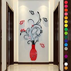Generic Fashion 60 x 28CM 3D Flower Acrylic Wall Sticker DIY 3D Wallpaper Decals/Adhesive Wall Stickers Mural Art Home Decor F1 Stype 4