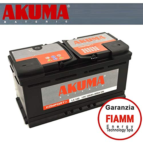 BATTERIA AUTO AKUMA = FIAMM Energy Technology s.p.a. 100 AH 12V 800A EN ORIGINALE NUOVA