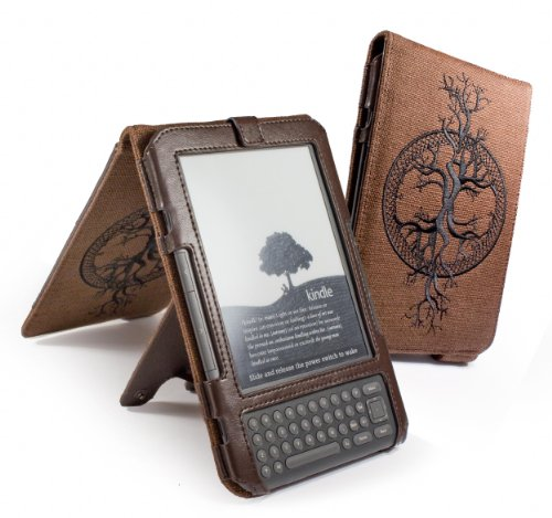 "Foto Eco-Nique, Custodia per Amazon Kindle 3/Global Wireless 6""/15 cm (Ultima Generazione), colore: Marrone"