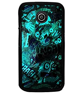 PrintDhaba Graffiti D-3907 Back Case Cover for MOTOROLA MOTO E (Multi-Coloured)