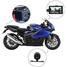 Rider motorista de la cámara, cámara de acción de motocicleta, deporte cámara con DVR Dash Cam con especializados doble con cámara frontal y cámara trasera, ...