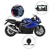 Rider Biker 's Kamera, Motorrad-Action-Kamera, Sportkamera mit DVR-Armaturenbrettkamera mit spezialisierten Nuten auf der Vorder- und Rückseite und 3-Zoll-Monitor mit Bild-im-Bild-Funktion.