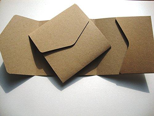 Grande: marrone Kraft riciclato Pocketfold Cranberry Card Company-Portafoglio biglietti d'invito marrone