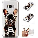 Galaxy S8 Case, Anlike Schutzhülle Handytasche Cover Case Weiche TPU Silikon Schlank Flexibel Handy Hülle für [Samsung Galaxy S8 (5,8 Zoll)] Malerei Stil Design - Hunde