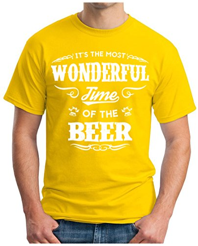 OM3 - WONDERFUL-BEER - T-Shirt GEEK, S - 5XL Gelb