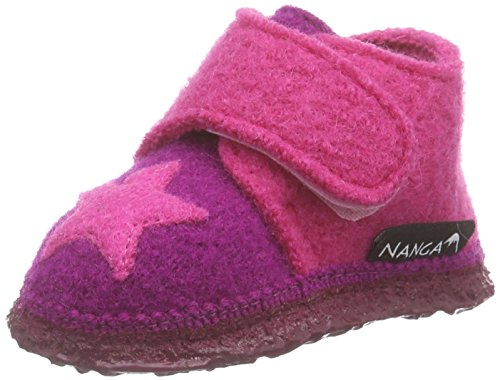 Nanga NangaStern - Pantofole Bimba 0-24 Multicolore (Mehrfarbig (Beere 25))