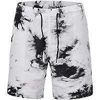Westtreg Pantalones Cortos Quick Dry Summer Beach Pantalones Cortos de Pintura Suelta en 3D para Hombres, l