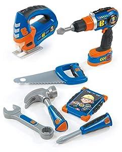 Set de 7 herramientas con luz y sonido de Bob el Constructor (Smoby 360134)