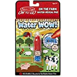 Melissa & Doug On The Go Water Wow! On The Farm (Reusable Water-Reveal Activity Pad, Chunky-Size Water Pen)