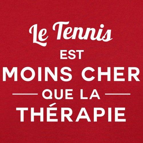 Le tennis est moins cher que la thérapie - Femme T-Shirt - 14 couleur Rouge
