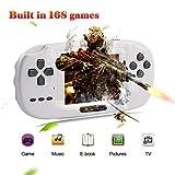 XinXu Consola de Juegos de Mano, Consola 2.8 'LCD PVP Plus Juego de Jugador Clásico Consola de Juegos de Mano USB Carga Regalo para Niños (Negro)