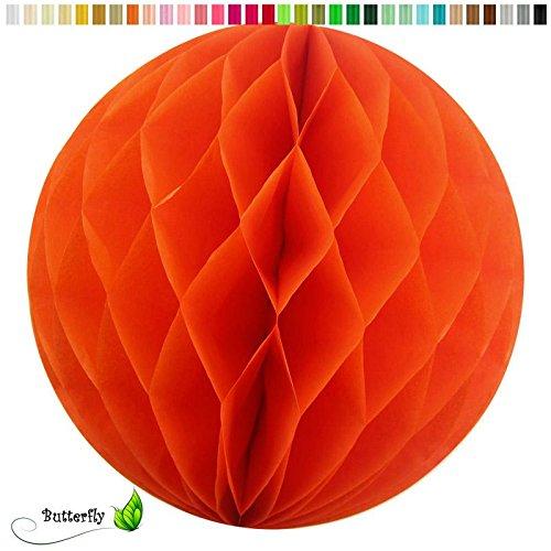 ll 15cm (orange 668) // Wabenkugel Honeycomb Hänge Deko Ballon Laternen Aufhänger Waben Bälle Papier Pompons Dekoration Geburtstag Party Hochzeit ()