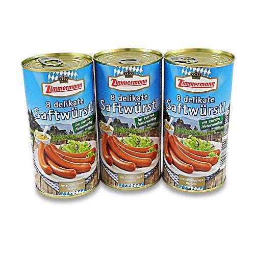 Delikate Saftwürstl 3er Pack (3 Dosen à 8 Stück / 250 g)