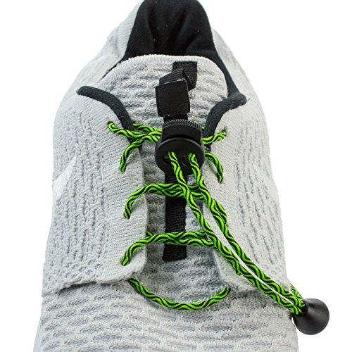 Flexy Lock Lace Schnell-Schnürsystem aus Polyester in Sunbeach Water 5 große Farhauswahl auch geeignet als Triathlon-Schnürsystem, ideal für Kinder, Senioren oder körperlich eingeschränkte Personen (Technische Systeme Große)