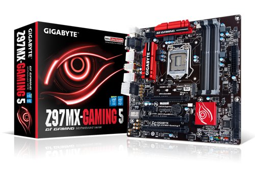 Gigabyte GA-Z97MX-Gaming 5 Motherboard S1150 (Z97, MATX, VGA, SND, GLN, U3, M2 SATA , 6GB DDR Speicher)