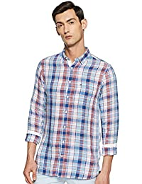 TOMMY HILFIGER Men's Checkered Slim fit Casual Shirt