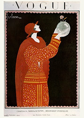 Vintage Vogue Cover September 1923 Poster Art Print - Best Price
