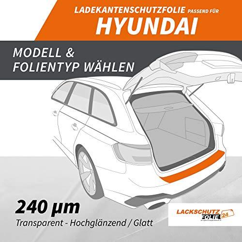 Ladekantenschutz Folie | Ladekantenschutzfolie › passgenau für: Hyundai Matrix 2. Facelift BJ 2008-2010 ✓ Hochtransparent-Glänzend/Glatt ✓ Stärke 240 µm (0,24mm) -