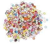 VBS Großhandelspackung 1000 Kunststoff-Knöpfe, Farbmix