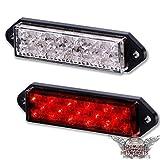 LED Rücklicht Superflat Universal Motorrad Harley Custom Schwarz Klar Glas