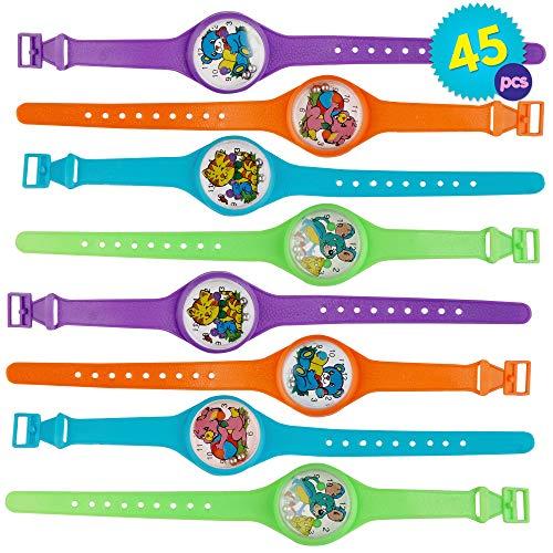 THE TWIDDLERS 45 Juguetes Reloj Pulseras Rompecabezas Laberinto Relojes para Niños -...