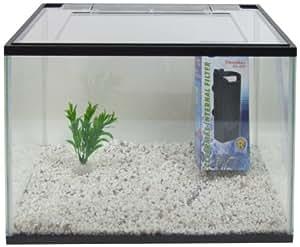Aquarline Starter Aquarium Kit with Filter Plastic Plant and Gravel, 23 Liter