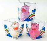 3 Stück Badeente Einhorn Badetiere im Set mit 3 Farben