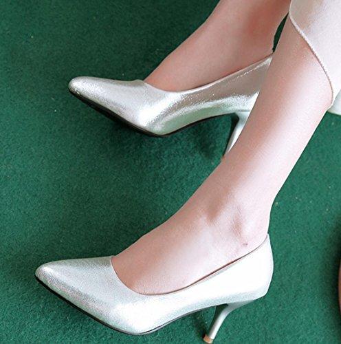 YCMDM Nouveau Talons Haute Femmes Soir Chaussures Essentielles Printemps Automne Mode Or Argent Bleu Rouge 35 36 37 38 39 silver